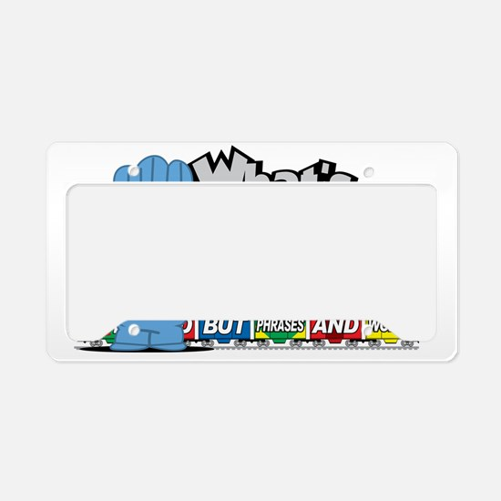 Conjunction-Junction License Plate Holder