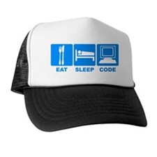 Eat Sleep Code2 Trucker Hat
