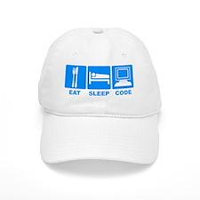Eat Sleep Code2 Baseball Cap