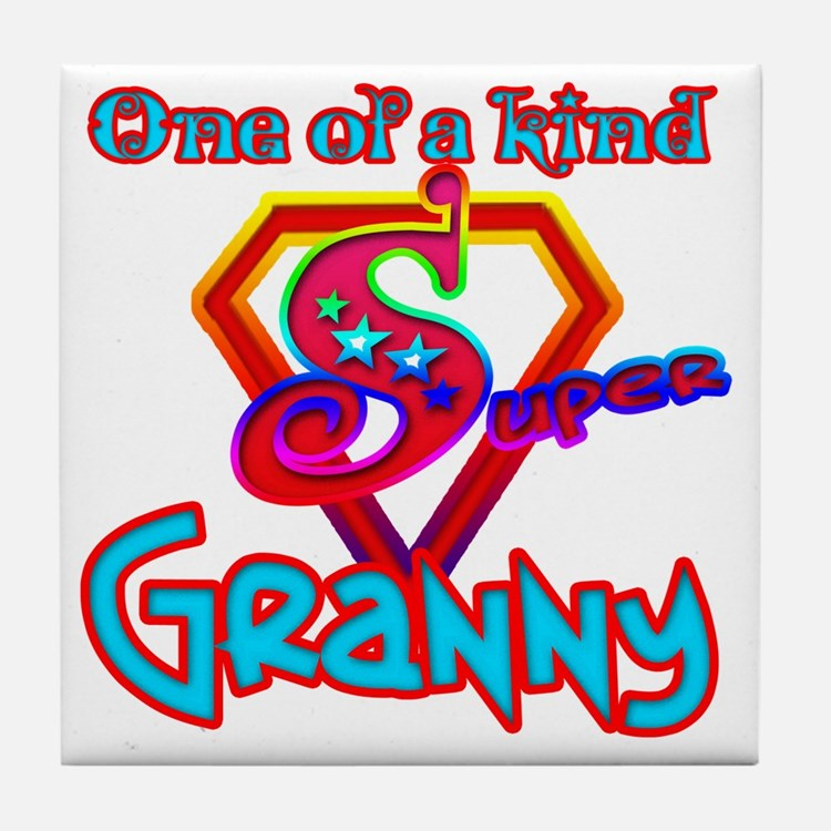 SuperGranny Tile Coaster