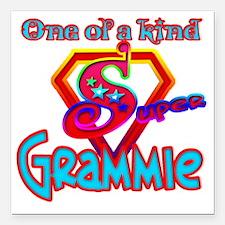 """SUPER GRAMMIE Square Car Magnet 3"""" x 3"""""""
