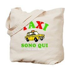 TaxiSonoQui Italy-dk Tote Bag