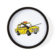 Taxi Sono Qui -dk Wall Clock