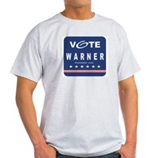 Vote Warner Ash Grey T-Shirt