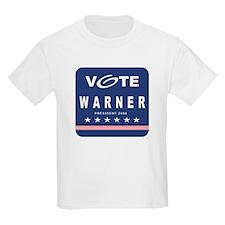 Vote Warner Kids T-Shirt