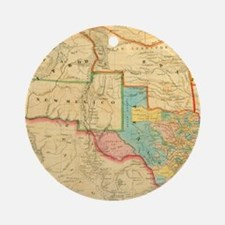 1851 Map of Texas by Cordova Round Ornament