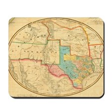 1851 Map of Texas by Cordova Mousepad