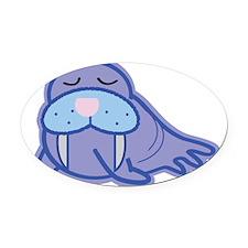 walrus-plain Oval Car Magnet