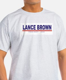 Lance Brown (simple) Ash Grey T-Shirt