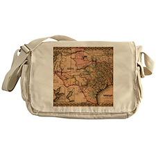 1855 Map of TX Messenger Bag
