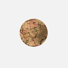 1855 Map of TX Mini Button