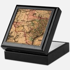 1855 Map of TX Keepsake Box