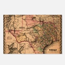 1855 Map of TX Postcards (Package of 8)