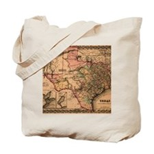 1855 Map of TX Tote Bag