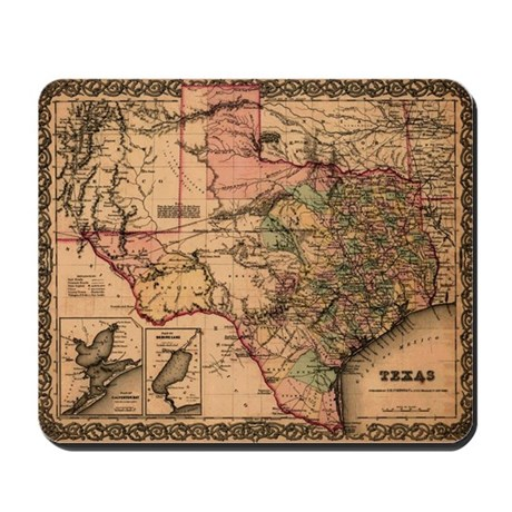 1855 Map Of TX Mousepad