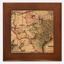 1855 Map of TX Framed Tile