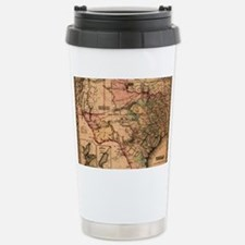 1855 Map of TX Stainless Steel Travel Mug