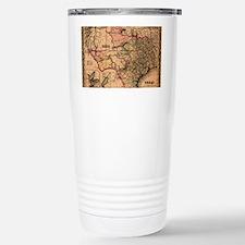 1855 Map of TX Travel Mug