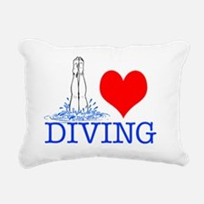 DIVINGsq Rectangular Canvas Pillow