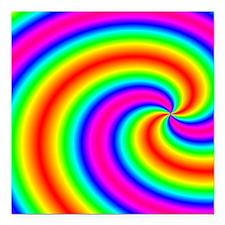 "rainbow Square Car Magnet 3"" x 3"""