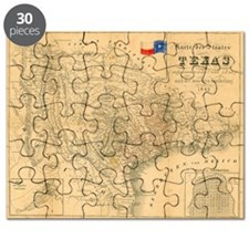 1849 Map of Texas by Badeker Puzzle