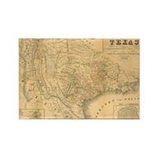 1849 Map of Texas by Badeker Rectangle Magnet