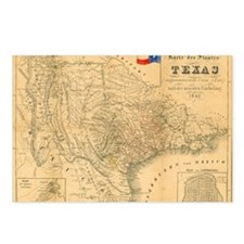 1849 Map of Texas by Bade Postcards (Package of 8)
