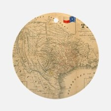 1849 Map of Texas by Badeker Round Ornament