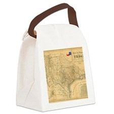 1849 Map of Texas by Badeker Canvas Lunch Bag