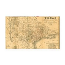 1849 Map of Texas by Badeker Rectangle Car Magnet