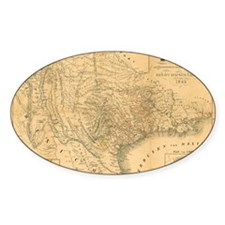 1849 Map of Texas by Badeker Decal