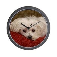 MalteseMousePad3 Wall Clock