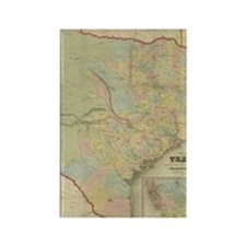 1851 Map of Texas Rectangle Magnet