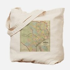 1851 Map of Texas Tote Bag