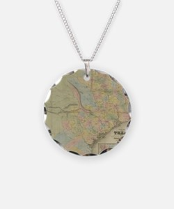 1851 Map of Texas Necklace
