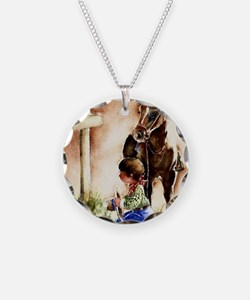 Cowboy praying Necklace