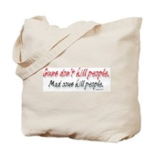 Mad Cows Kill People Tote Bag