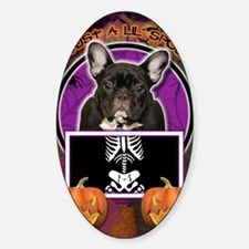 LilSpookyFrenchBulldogTeal Decal