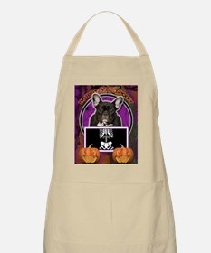 LilSpookyFrenchBulldogTeal Apron