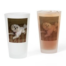 MalteseMousePad Drinking Glass