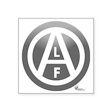 """alf-black-03 Square Sticker 3"""" x 3"""""""