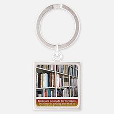 bookworm Square Keychain