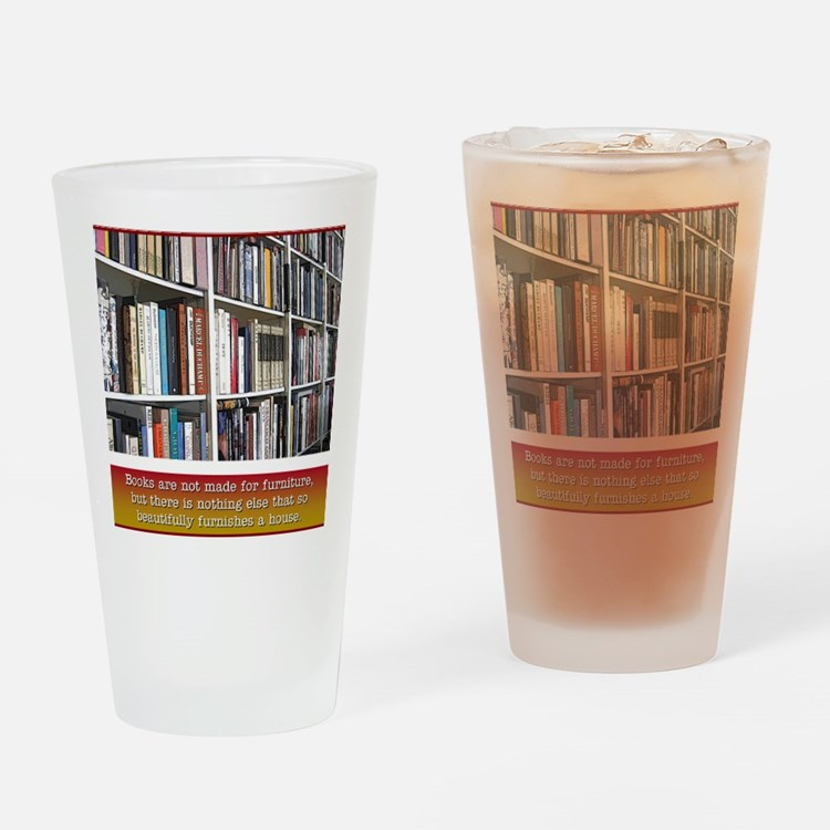bookworm Drinking Glass