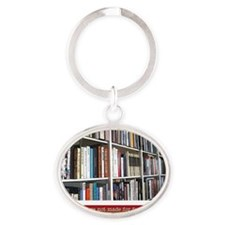 bookworm Oval Keychain