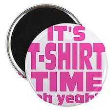 Tee Shirt Time -pink Magnet