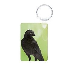 Crow_Green_iPhone2 Aluminum Photo Keychain