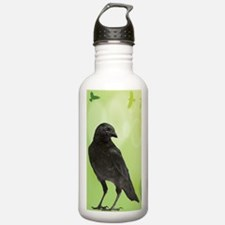 Crow_Green_iPhone2 Water Bottle