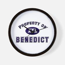 Property of benedict Wall Clock