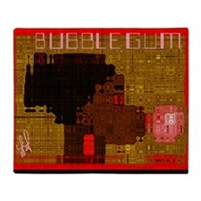 bubblegum SMALL Throw Blanket