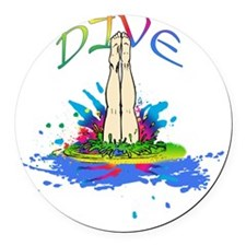 DIVE Round Car Magnet